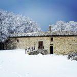 eremo casella con neve