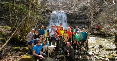 La Cascata segreta del popolo di Castel dell' Alpe  8/04/2018